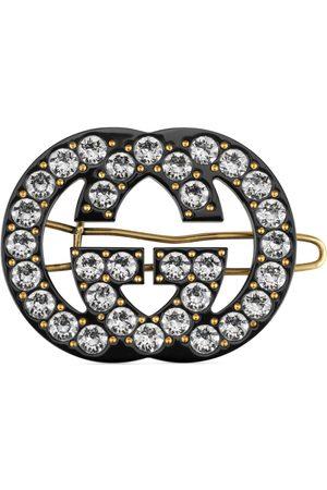 Gucci Uhren - Haarspange mit kristallbesetztem GG