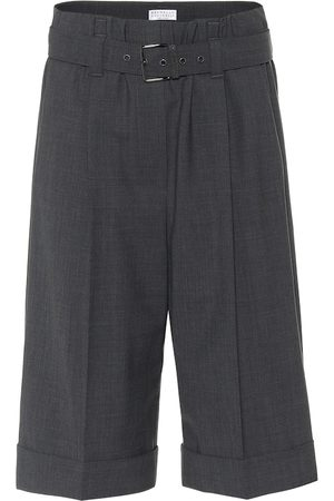 Brunello Cucinelli Shorts aus einem Wollgemisch