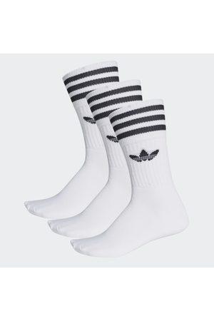 Socken & Strümpfe - adidas Einfarbige Crew Socken, 3 Paar