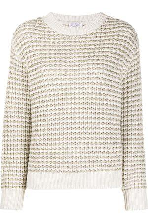 Brunello Cucinelli Metallic chunky-knit jumper - Nude