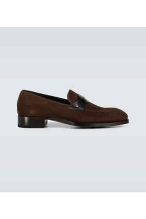 Tom Ford Loafers Elkan aus Veloursleder