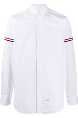 Thom Browne RWB stripe buttoned shirt