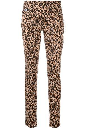 VERSACE Leopard print trousers