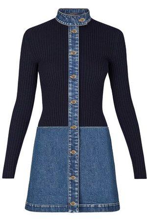 LOUIS VUITTON Stonewashed-Denim Kleid