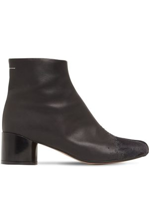 MM6 MAISON MARGIELA 45mm Leather & Suede Ankle Boots