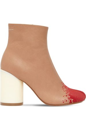 MM6 MAISON MARGIELA 90mm Leather & Suede Ankle Boots