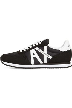 Armani Logo Tech Lace-up Sneakers