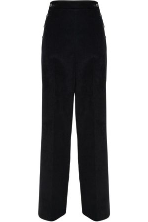Max Mara High Waist Corduroy Wide Leg Pants