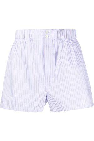 BRIONI Shorts mit Streifen-Print - Lila