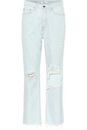 GRLFRND High-Rise Straight Jeans Mica