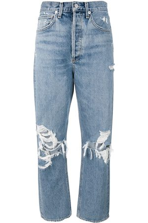 AGOLDE Mom' Jeans im Distressed-Look