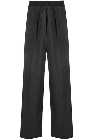 Brunello Cucinelli Contrasting waistband wide-leg trousers