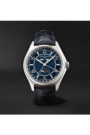 VACHERON CONSTANTIN Herren Uhren - Fiftysix Automatic Complete Calendar 40mm Stainless Steel and Alligator Watch, Ref. No. 4000E/000A-B548