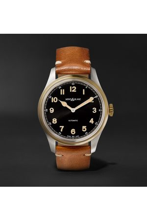 Mont Blanc 1858 Automatic 40mm Stainless Steel, Bronze and Leather Watch, Ref. No. 117833