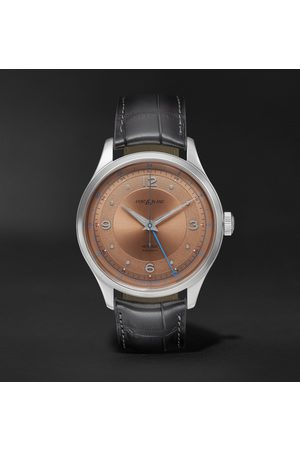 Mont Blanc Heritage GMT Automatic 40mm Stainless Steel and Alligator Watch, Ref. No. 119950