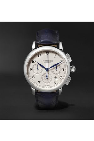Mont Blanc Star Legacy Automatic Chronograph 42mm Stainless Steel and Alligator Watch
