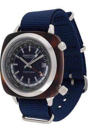Briston Herren Uhren - Clubmaster World Time' Armbanduhr, 42mm