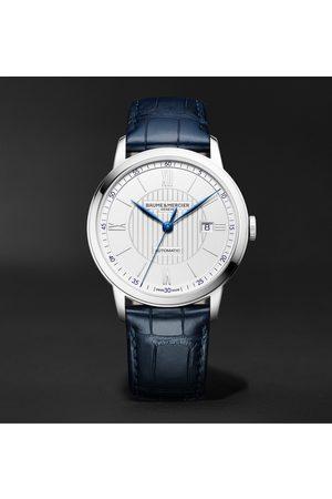 Baume & Mercier Herren Uhren - Classima Automatic 42mm Stainless Steel and Alligator Watch, Ref. No. M0A10333