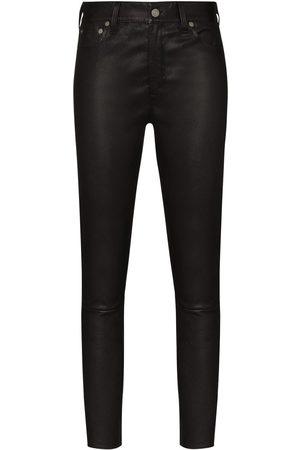 Polo Ralph Lauren Damen Leder & Lederimitathosen - Klassische Skinny-Lederhose