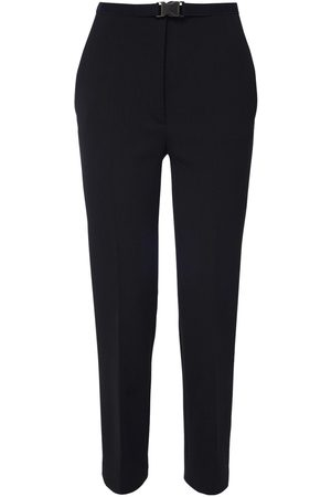 Prada High Waist Stretch Woven Wool Pants