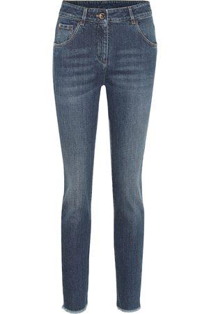 Brunello Cucinelli Mid-Rise Skinny Jeans