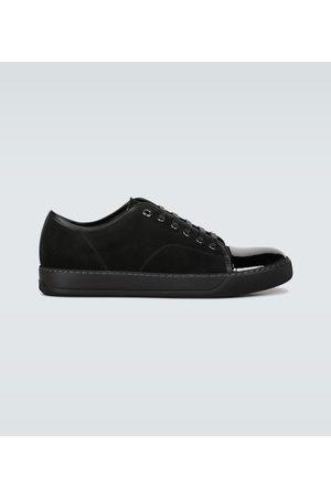 Lanvin Sneakers aus Leder und Veloursleder