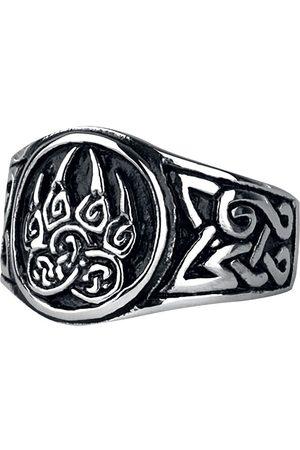 etNox hard and heavy Bärentatze Ring silberfarben