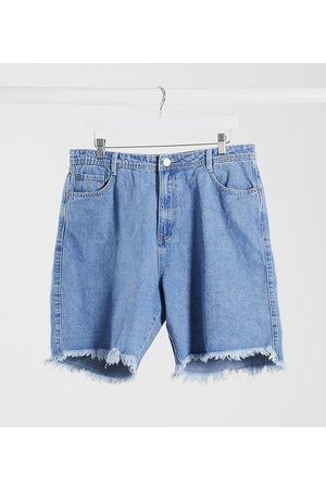 Missguided Lang geschnittene Denim-Shorts in
