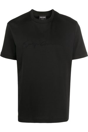 Armani T-Shirt mit Logo-Stickerei