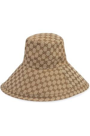 Gucci Hut mit breiter Krempe - Nude