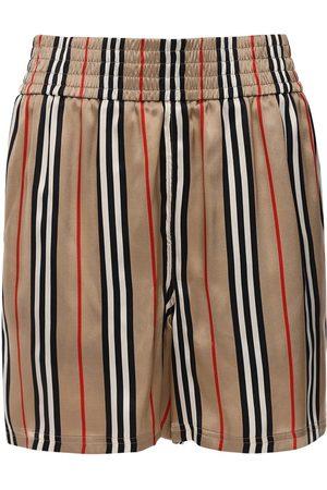 Burberry Shorts Aus Seidentwill Mit Karos