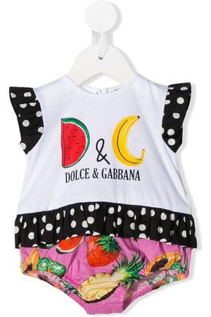 Dolce & Gabbana Strampelanzug mit Früchte-Print