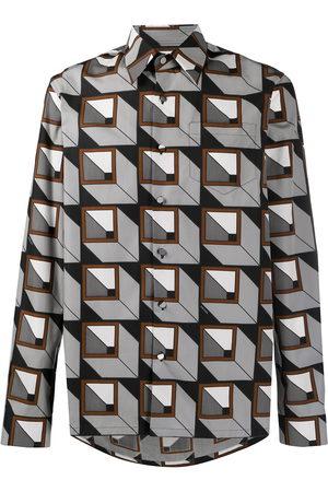Prada Geometric print buttoned shirt