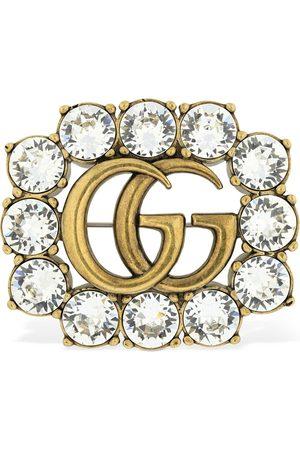 """Gucci Kristallbrosche """"gg Marmont"""""""