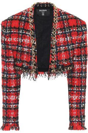 Balmain Cropped-Jacke aus Tweed