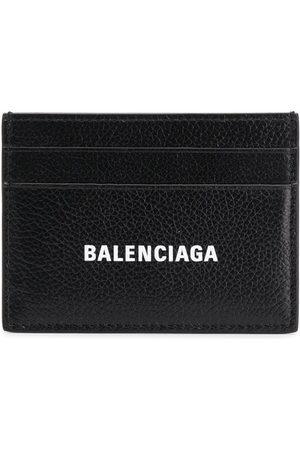Balenciaga Logo print cardholder - 101 - Black:1090