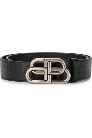 Balenciaga BB logo-plaque belt - 101 - Black:1000
