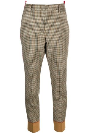 Dsquared2 Logo tape checked trousers - Nude