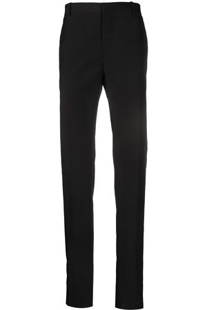 Alexander McQueen Velvet stripe tailored trousers