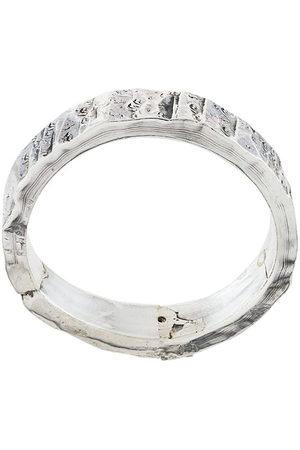 EMANUELE BICOCCHI Strukturierter Silberring - Metallisch
