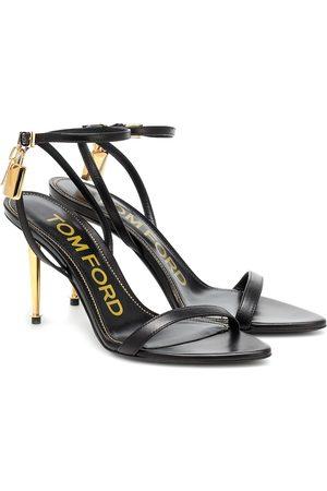 Tom Ford Damen Sandalen - Verzierte Sandalen aus Leder