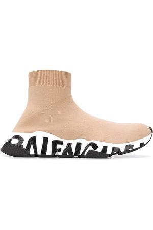 Balenciaga Speed high-top sneakers - Nude