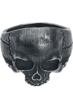 etNox hard and heavy Herren Ringe - Skull Head Ring silberfarben
