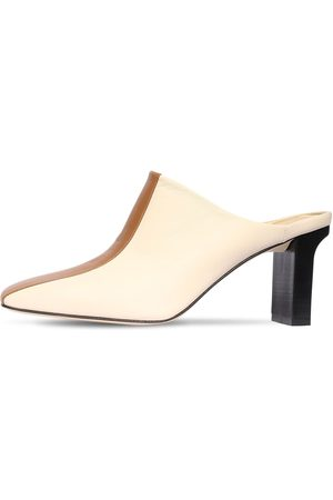 Aeyde 75mm Jude Bicolor Leather Mules