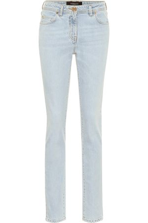 VERSACE High-Rise Slim Jeans