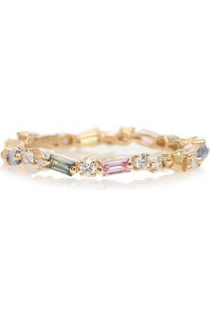 Suzanne Kalan Ring Fireworks aus 18kt Gelbgold mit Diamanten und Saphiren