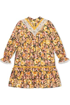 Gucci Rose and rabbit-print dress