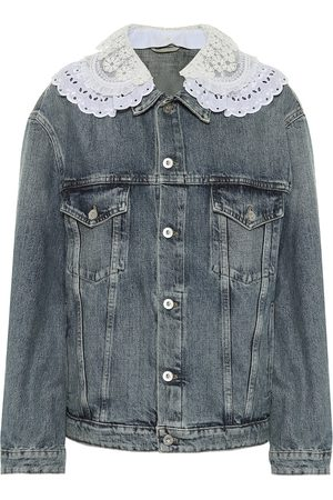 Miu Miu Verzierte Jeansjacke
