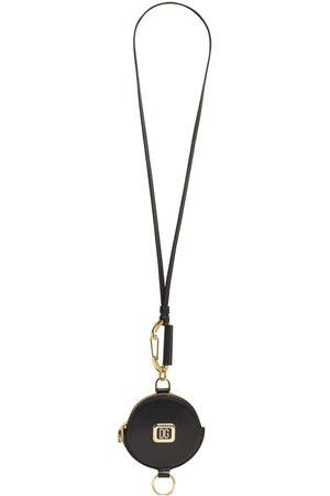 Dolce & Gabbana Schlüsselanhänger Aus Leder Mit Metalllogo