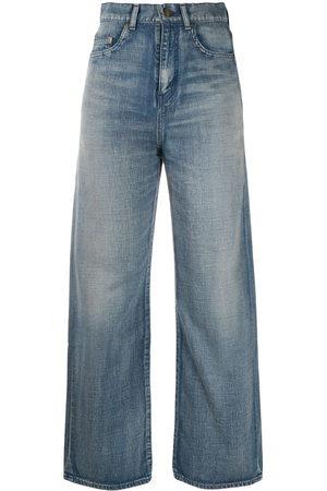 Saint Laurent Faded straight-leg jeans